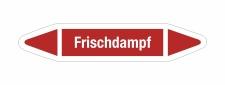 Rohrleitungskennzeichnung Aufkleber Etikett Frischdampf...