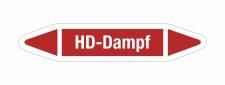 Rohrleitungskennzeichnung Aufkleber Etikett HD-Dampf DIN...