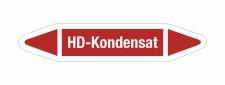 Rohrleitungskennzeichnung Aufkleber Etikett HD-Kondensat...