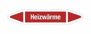 Rohrleitungskennzeichnung Aufkleber Etikett Heizwärme DIN 2403 Dampf