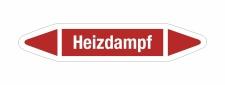 Rohrleitungskennzeichnung Aufkleber Etikett Heizdampf DIN...