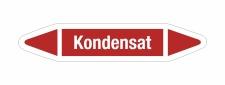 Rohrleitungskennzeichnung Aufkleber Etikett Kondensat DIN...