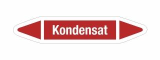 Rohrleitungskennzeichnung Aufkleber Etikett Kondensat DIN 2403 Dampf - 75 x 15 mm / 20 Stück