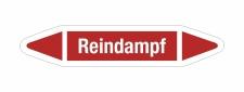 Rohrleitungskennzeichnung Aufkleber Etikett Reindampf DIN 2403 Dampf - 75 x 15 mm / 20 Stück