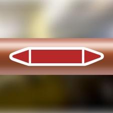 Rohrleitungskennzeichnung Aufkleber Blanko, Selbstbeschriftung DIN 2403 Dampf