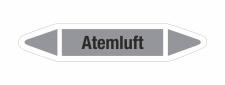 Rohrleitungskennzeichnung Aufkleber Etikett Atemluft DIN 2403 Luft