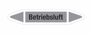 Rohrleitungskennzeichnung Aufkleber Etikett Betriebsluft DIN 2403 Luft