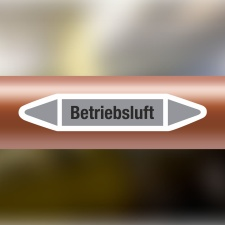 Rohrleitungskennzeichnung Aufkleber Etikett Betriebsluft...