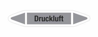 Rohrleitungskennzeichnung Aufkleber Etikett Druckluft DIN 2403 Luft - 125 x 25 mm / 10 Stück