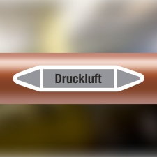 Rohrleitungskennzeichnung Aufkleber Etikett Druckluft DIN...