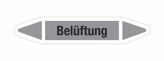 Rohrleitungskennzeichnung Aufkleber Etikett Belüftung DIN 2403 Luft