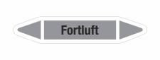 Rohrleitungskennzeichnung Aufkleber Etikett Fortluft DIN...