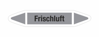 Rohrleitungskennzeichnung Aufkleber Etikett Frischluft DIN 2403 Luft