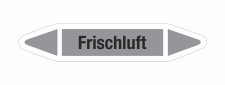 Rohrleitungskennzeichnung Aufkleber Etikett Frischluft...