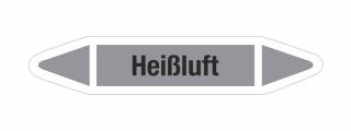 Rohrleitungskennzeichnung Aufkleber Etikett Heißluft DIN 2403 Luft