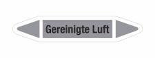 Rohrleitungskennzeichnung Aufkleber Etikett Gereinigte...