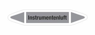 Rohrleitungskennzeichnung Aufkleber Etikett Instrumentenluft DIN 2403 Luft