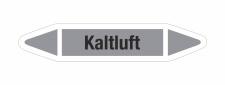 Rohrleitungskennzeichnung Aufkleber Etikett Kaltluft DIN...