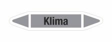 Rohrleitungskennzeichnung Aufkleber Etikett Klima DIN...