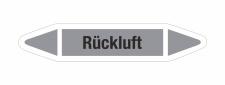 Rohrleitungskennzeichnung Aufkleber Etikett Rückluft DIN 2403 Luft