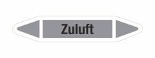Rohrleitungskennzeichnung Aufkleber Etikett Zuluft DIN...