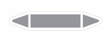 Rohrleitungskennzeichnung Aufkleber Blanko,...