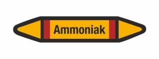 Rohrleitungskennzeichnung Aufkleber Etikett Ammoniak DIN 2403 Brennbare Gase