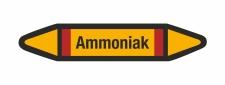 Rohrleitungskennzeichnung Aufkleber Etikett Ammoniak DIN...