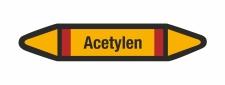 Rohrleitungskennzeichnung Aufkleber Etikett Acetylen DIN...