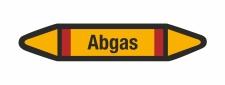 Rohrleitungskennzeichnung Aufkleber Etikett Abgas DIN...
