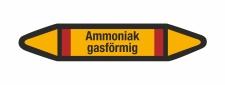 Rohrleitungskennzeichnung Aufkleber Ammoniak...