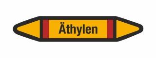 Rohrleitungskennzeichnung Aufkleber Etikett Äthylen DIN 2403 Brennbare Gase