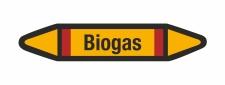 Rohrleitungskennzeichnung Aufkleber Etikett Biogas DIN...