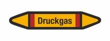 Rohrleitungskennzeichnung Aufkleber Etikett Druckgas DIN...
