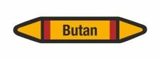 Rohrleitungskennzeichnung Aufkleber Etikett Butan DIN...