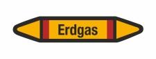 Rohrleitungskennzeichnung Aufkleber Etikett Erdgas DIN...