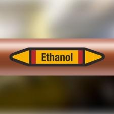 Rohrleitungskennzeichnung Aufkleber Etikett Ethanol DIN...