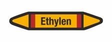 Rohrleitungskennzeichnung Aufkleber Etikett Ethylen DIN...