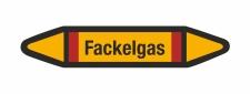 Rohrleitungskennzeichnung Aufkleber Etikett Fackelgas DIN...