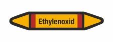 Rohrleitungskennzeichnung Aufkleber Etikett Ethylenoxid...