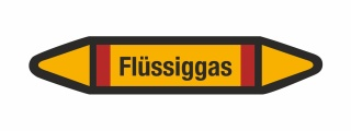 Rohrleitungskennzeichnung Aufkleber Etikett Flüssiggas DIN 2403 Brennbare Gase