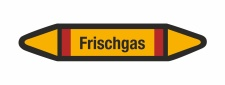 Rohrleitungskennzeichnung Aufkleber Etikett Frischgas DIN 2403 Brennbare Gase