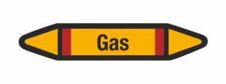 Rohrleitungskennzeichnung Aufkleber Etikett Gas DIN 2403 Brennbare Gase