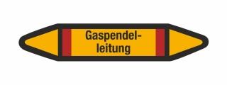Rohrleitungskennzeichnung Aufkleber Gaspendelleitung DIN 2403 Brennbare Gase
