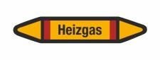 Rohrleitungskennzeichnung Aufkleber Etikett Heizgas DIN 2403 Brennbare Gase