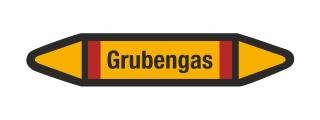 Rohrleitungskennzeichnung Aufkleber Etikett Grubengas DIN 2403 Brennbare Gase