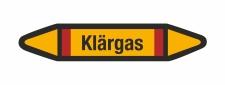 Rohrleitungskennzeichnung Aufkleber Etikett Klärgas DIN 2403 Brennbare Gase