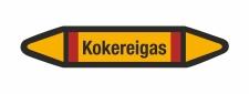 Rohrleitungskennzeichnung Aufkleber Etikett Kokereigas DIN 2403 Brennbare Gase