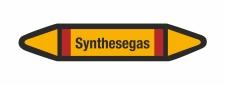 Rohrleitungskennzeichnung Aufkleber Etikett Synthesegas...