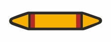 Rohrleitungskennzeichnung Aufkleber Etikett Blanko DIN...